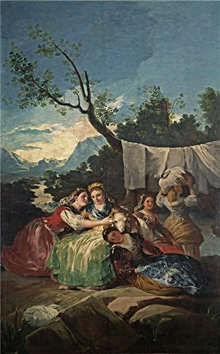 High Quality Polyster Canvas ,the Imitations Art DecorativeCanvas Prints Of Oil Painting 'Goya Y Lucientes Francisco De The Washerwomen 1779 80 ', 16 X 26 Inch / 41 X 65 Cm Is Best For Gift For Girl Friend And Boy Friend And Home Decoration And Gifts