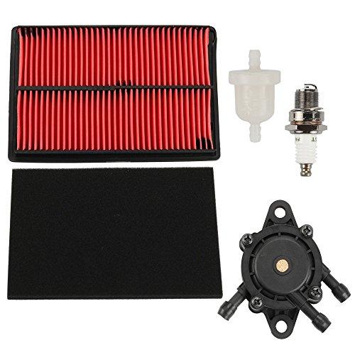 - Harbot Air Filter + 16700-Z0J-003 Fuel Pump Spark Plug for Honda GX610 GX620 GX670 17210-ZJ1-842 17210-ZJ1-841 17218-ZJ1-840 20HP V-Twin Engine