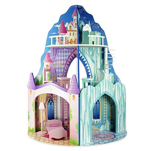 Teamson Kids - Dual Theme (Ice / Dream Castle) Wooden Dol...