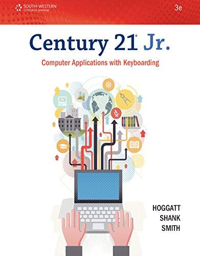 Download Century 21 Jr. Computer Applications with Keyboarding (Century 21 Keyboarding) Pdf