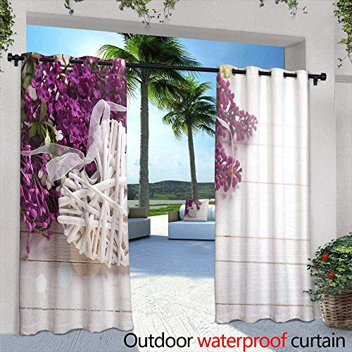 Sunrise Skirt (Lightly Exterior/Outside Curtains,Dawn at Cabo San Lucas Sunrise Wallpaper,W72 x L84 Thermal Insulated Water Repellent Drape for Balcony)