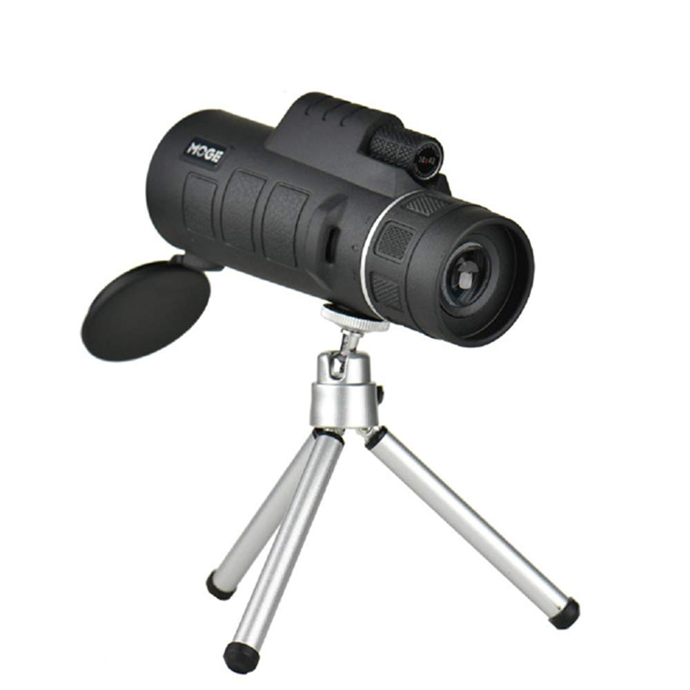 ASG Telescope 10x42 Single Tube New Low Light Night Vision Single Tube Hd Non-Infrared,Black by ASG
