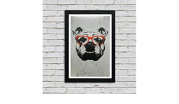 "Bulldog Face Mini Poster 13/""x19/"" HD"