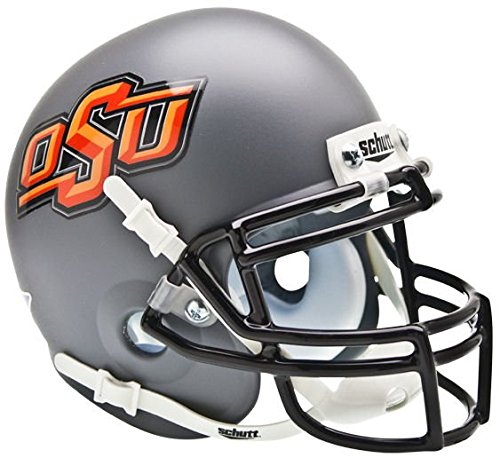 Schutt NCAA Oklahoma State Cowboys Collectible Alt 1 Mini Helmet, Matte Grey by Schutt