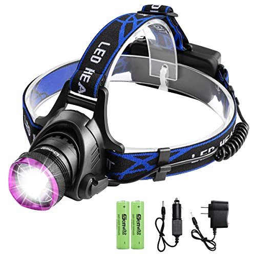 Led Rechargeable Headlamp, Genwiss Brightest Head Lamp,
