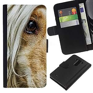 eJoy---La carpeta del tirón la caja de cuero de alta calidad de la PU Caso protector - LG G3 - --Afghan Hound Hair Dog Eye Orange Canine