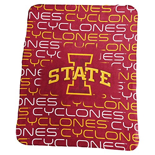 Logo Brands NCAA Iowa State Cyclones Classic Fleece, One Size, -