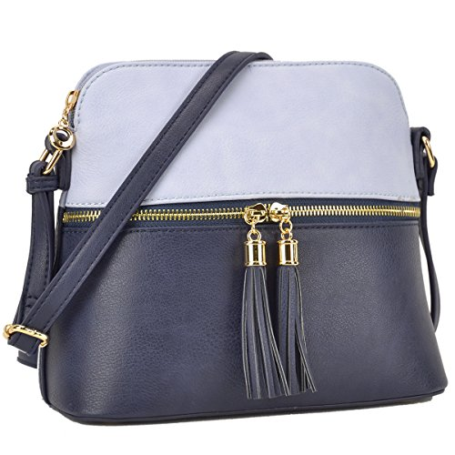 Tassel Blue Lightweight Deep Cute Handbags Medium Sea with DASEIN Bags Crossbody Purses TF8wqqoa
