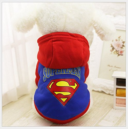 [Chicpaw Small Pet Dog Clothes Warm Costume Apparel Pet Dog Cat Puppy Sweater Hoodie Coat XS-XL 5 Color Choose (XS(Length:6.3