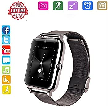 Smart Watch for Android,HongTu Waterproof Sport Smart Watches Touch Screen with Camera Pedometer SIM TF Card Slot with Compatible iOS iPhone X 8 7 6 6S Plus ...