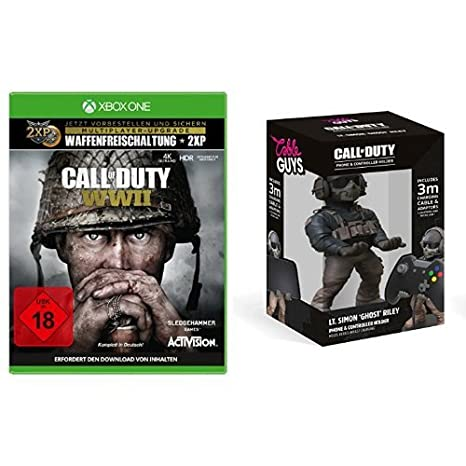 Call of Duty: WWII - Standard Edition - [Xbox One] + Cable Guy Simon Ghost Riley