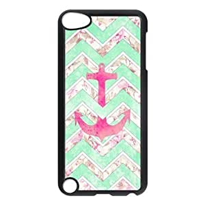 ALICASE Design Phone Case Anchor Chevron For Ipod Touch 5 [Pattern-1]