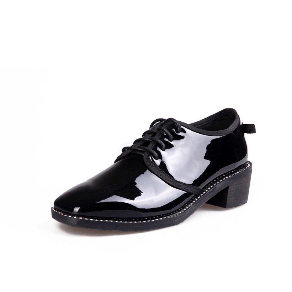 Frühling,Quadratischen Kopf,Rau Mit,Nude Schuhe Dame,Print Leder,Spitze Schuhe