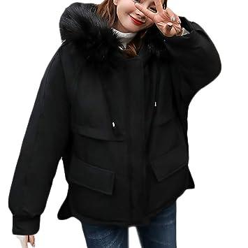 Ropa de Abrigo Mujer,ZARLLE Mujer Invierno Casual Más Gruesa Abrigo Parkas Militar con Capucha