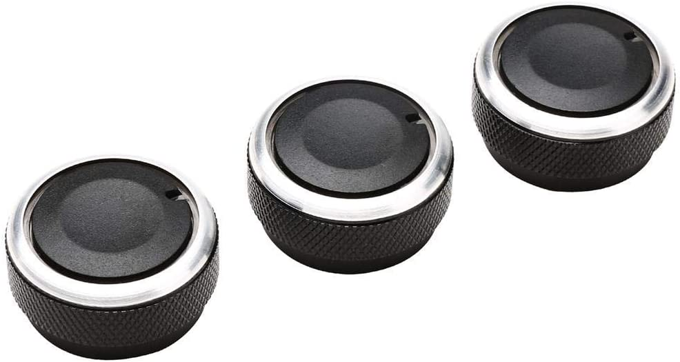 Ecloud Shop A/C Air Conditioning Control Switch Knob Button For Toyota Tacoma VIOS(2002-2006) Vela Vitz YARIS (Black, Pack of 3)
