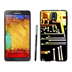 Beautiful Unique Designed Samsung Galaxy Note 3 N900A N900V N900P N900T Phone Case With Printed Circuit Board Lockscreen_Black Phone Case