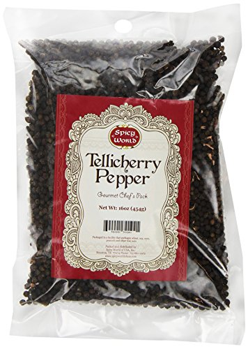 (Spicy World Peppercorn (Whole)-Black Tellicherry, 16 Oz. bag)