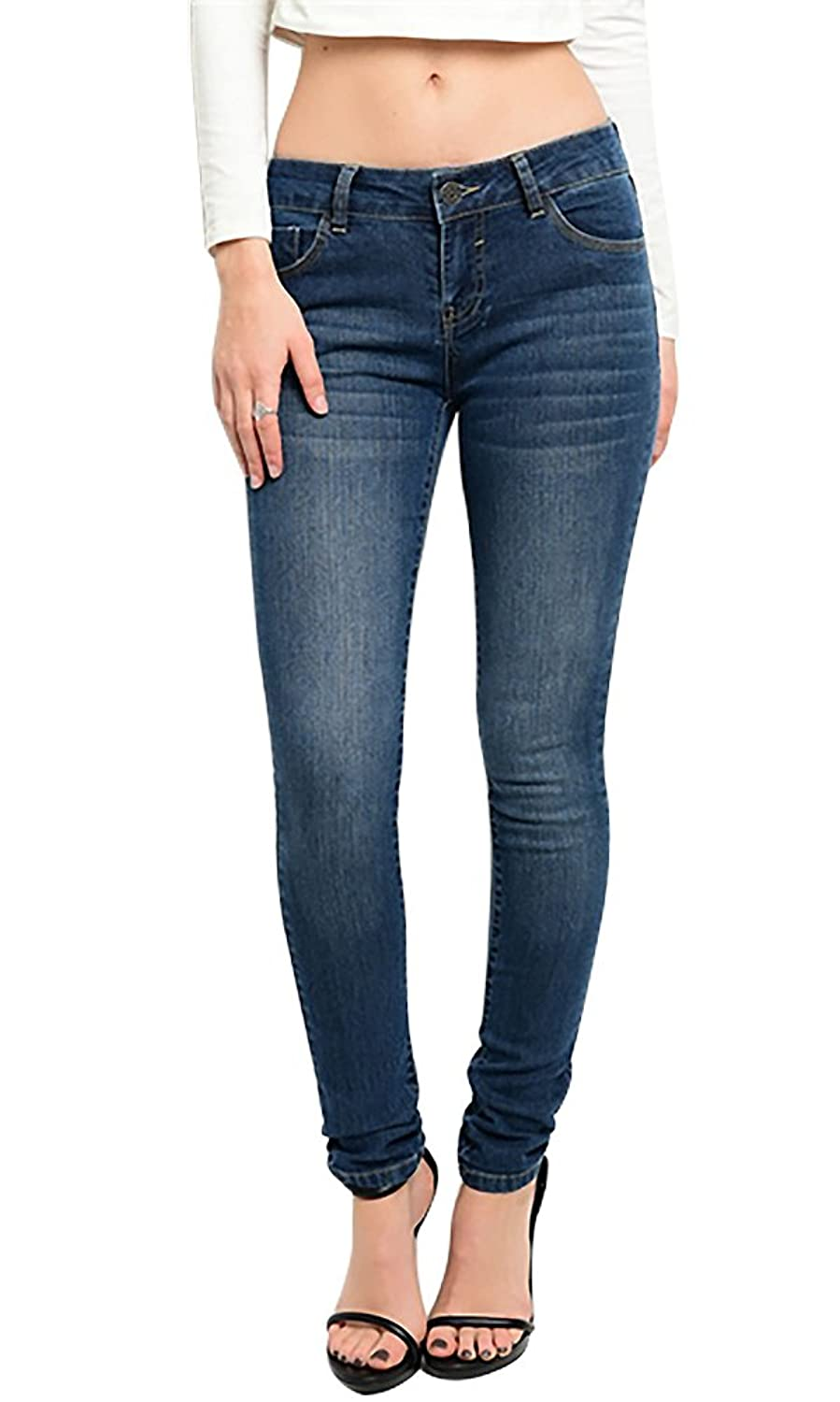JW Signature Women's Skinny Washed Pants Denim Jeans