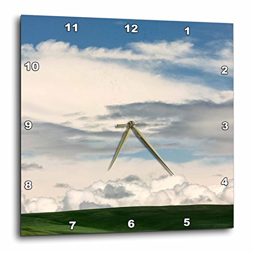 Washington State Desk Clock - 3dRose Danita Delimont - Weather - Clouds on distant horizon, Palouse region of eastern Washington State. - 15x15 Wall Clock (dpp_260403_3)
