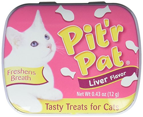 Chomp Pit'r Pat Liver Flavor Tasty Treats for Cats - Liver Cat Treats