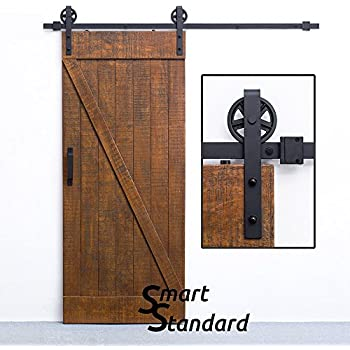 Attrayant 6.6ft Heavy Duty Sliding Barn Door Hardware Kit U2022 Big Industrial Wheel  Hangers U2022 Super