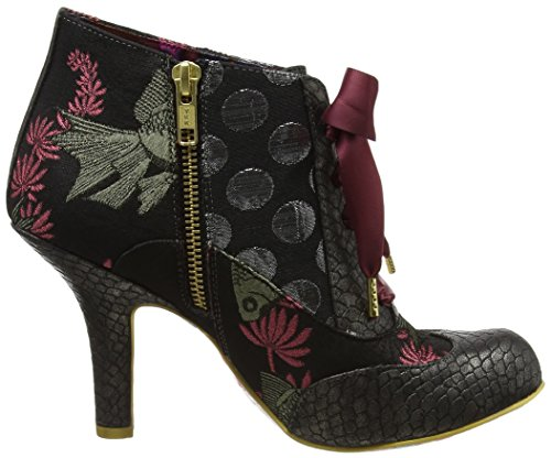 Irregular Choice Blair Elfglow - Botines Para Mujer Negro (Black Metallic)