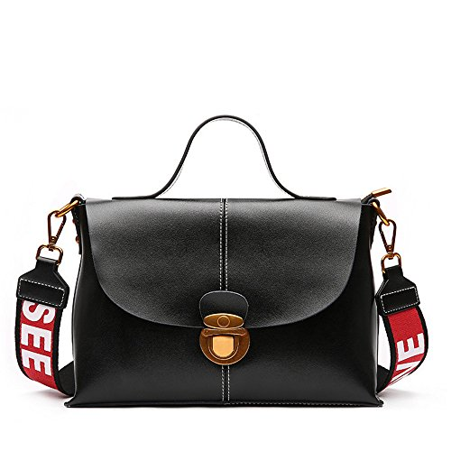 Gwqgz New Handbag Bag Retro Style Fashion Lady Handbag Single Simple Bag Style Atmosphere Black Ghouls
