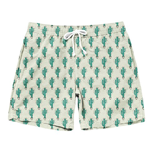 2cd9eb0235 hot sale Cottonsyria Men's Cactus Swim Trunks Graphic Beach Shorts Cartoon  Swimwears