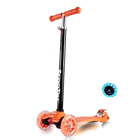 Nclon Patinetes Niños Scooter,Ajustable 3 Ruedas Luces leds ...