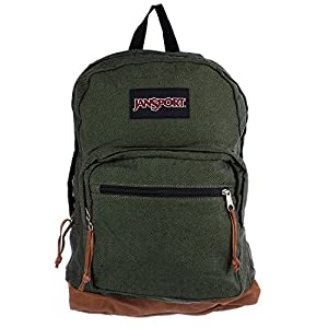 JanSport Right Pack Expressions Backpack (O/S, MUTED GREEN)