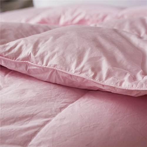 Topsleepy LUXURIOUS All Size 75% Goose Down Comforter ,1200TC 100% Cotton Shell Down Proof 750 Fill Power, 50 Oz Fill Weight ,LIGHT PINK Color,Hypo-allergenic (California King Size) by Topsleepy (Image #3)'