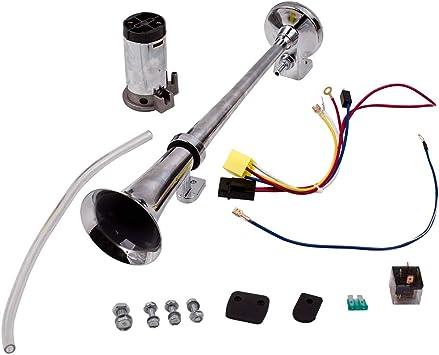 cciyu 178db 12V Air Horn Dual Trumpet Air Horn Compressor Kit Replacement for Train Car Truck Boat RV Air Horn