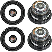 4) NEW PYRAMID WX65X 6.5 1200W Car Audio Subwoofers Subs Power Woofers 4 Ohm
