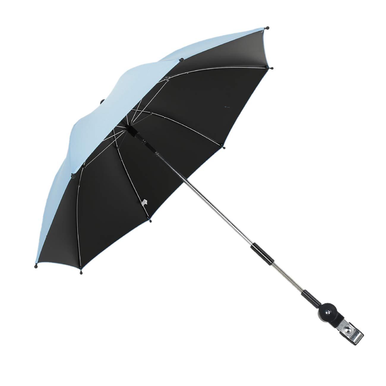 ShiyiUP Wheelchair Pushchair Baby Stroller Parasol Rain Sun Canopy Stretchable Pram Stroller Umbrella Holder Clip Clamp