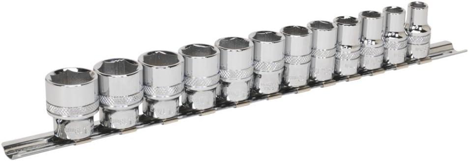 "Sealey AK2744 Socket Set 12pc 3//8/""Sq Drive Deep Lock-On™ 6pt Metric"