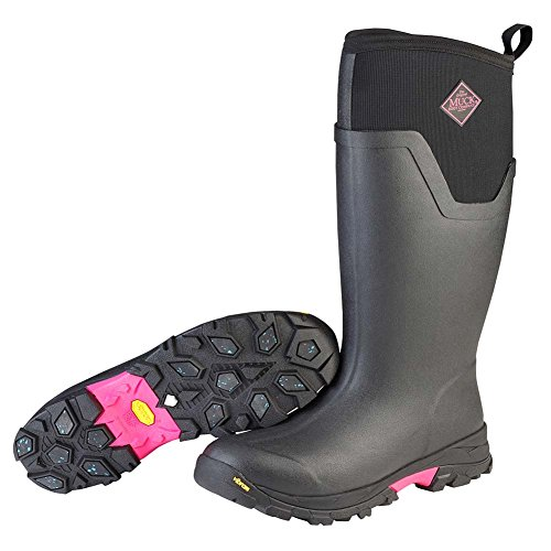 Muck Boot Women's Arctic Ice Tall Work Boot, Black/Hot Pink, 8 M US by Muck Boot