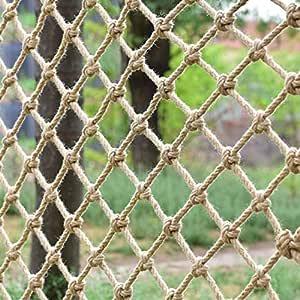 Red De Yute De Algodón Natural,Cáñamo Torcido Manila Balcón Escalera Protección Valla Planta Escalada Jardín Red Malla Uniforme Seguridad Y Respeto Al Medio Ambiente,Fuerte Y Resistente Al Desgaste: Amazon.es: Jardín