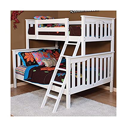 Amazon Com Seneca Twin Over Full Bunk Bed White 0737989617065