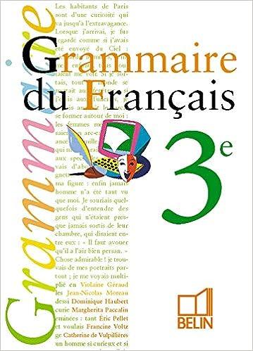 Grammaire 3e Livre De L Eleve Collectif 9782701117621