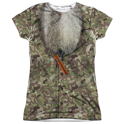 Duck Dynasty Camo Costume Women's Front Only Sublimated T Shirt