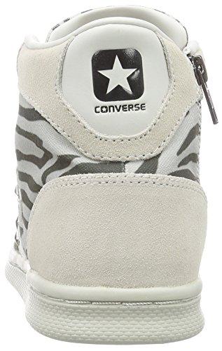 Leather Converse Pro Lp Uomo Panna Can Mid Zip grigio Pri aFRqx1