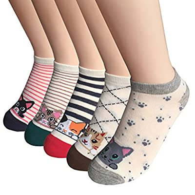 Cat Fan related Products Cat Socks Womens Girls Cute Animal Socks Novelty Funny Cat Claw... [tag]