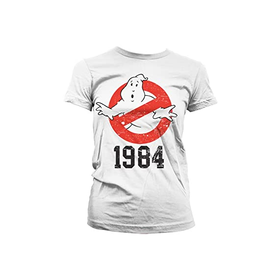 Officiellement Marchandises Ghostbusters Sous Licence Femme T 1984 yvmn80OPNw