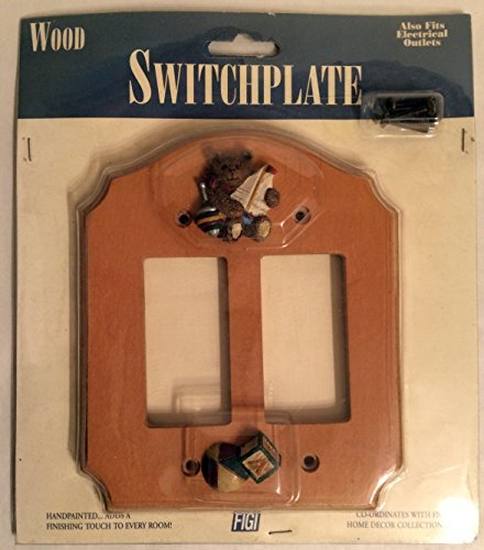 Figi Wood Wallplate(Light Switch Cover): Teddy and Toys SPRD-105 (Teddy Switchplate)