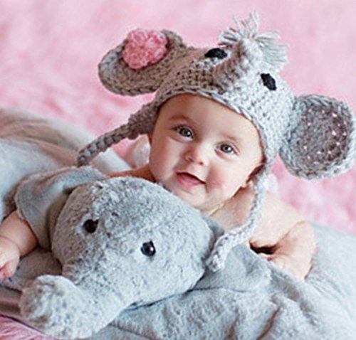Newborn Costumes 0-3 Months (Ximkee Cute Newborn Baby Boy Girl Infant Crochet Elephant Costume Photo Photography Props 0-6 months)