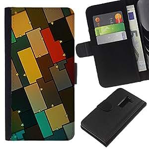 Stuss Case / Funda Carcasa PU de Cuero - Modelo colorido - LG G2 D800