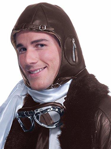 Forum Novelties Deluxe Aviator Airplane Flight Black Costume Helmet]()