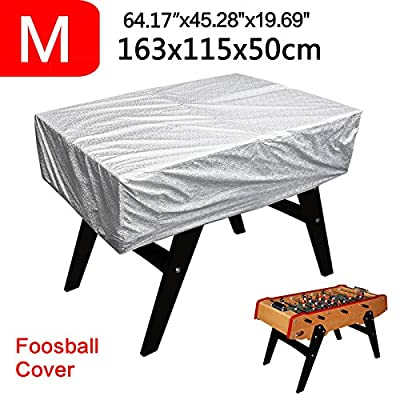 NEVERLAND Light Foosball Billiard Table Storage Cover Outdoor Windproof Waterproof Sun UV Dust 63 x 45 x 19.7inch