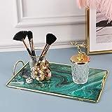 Zosenley Makeup Organizer Tray, Decorative Glass