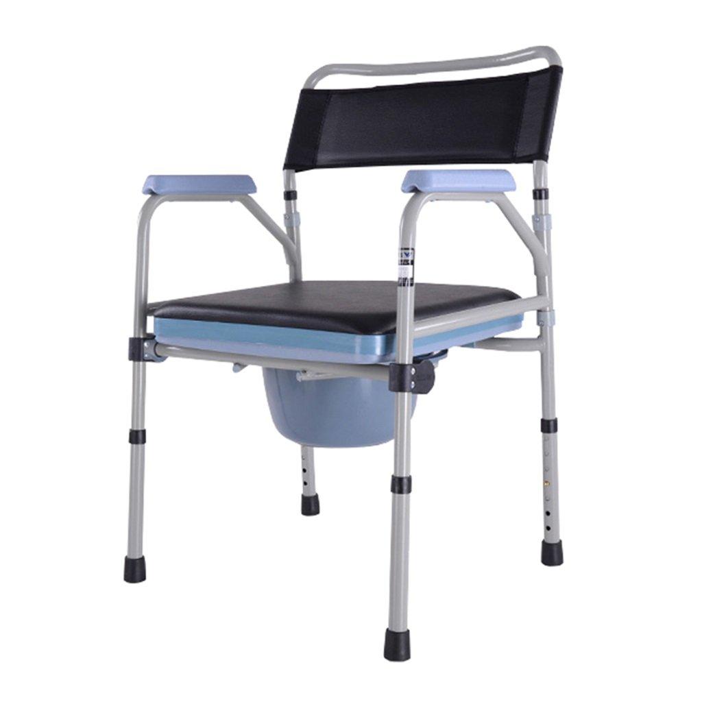 見事な ポータブル高齢者障害者鋼管トイレの椅子アンチスリップ手すりバケット高さと頑丈で丈夫なバスルームシャワースツール調節可能な椅子の椅子妊娠中の女性のトイレシートMax.158kg B07F6Z2FPD, やまぐちけん:5bef9ea1 --- eastcoastaudiovisual.com